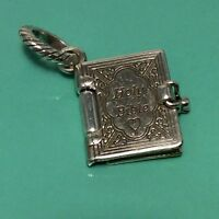 🌸 Brighton ABC Silver Holy Bible (opens Up) Charm RARE  NWOT 🌸