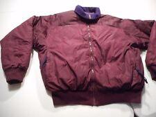 Vintage Columbia Mens Large Purple/Purple Down Filled Reversible Jacket Coat