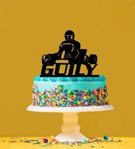 Personalised Karting Acrylic Cake Topper