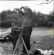 famous photographer Tamás Urbán working w Bronica photo camera,  1960's  vintage