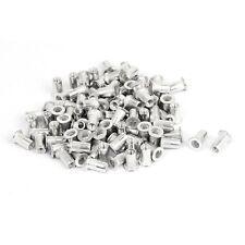 M5 Aluminium Threaded Rivnuts Flat Head Rivet Nuts Nutserts 100pcs Y6X3
