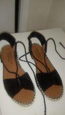 Ladies George Asda Black  summer lase up  women's sandels size uk 6.5
