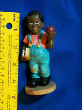Youngs Inc Figure Schoolboy Apple Black Americana Vtg Statue Monroe, Michigan