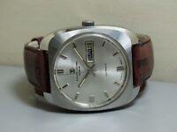 Vintage Favre Leuba Auto Duomatic Swiss Mens Wrist Watch Old Used e620 Antique