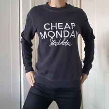 Cheap Monday Shaw PAILLETTES Felpa Maglione-Grigio-XS RRP £ 60