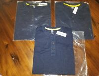 Old Navy Boys Regular XL/TG (14-16) Henley Short Sleeve Shirts NWT - 3 Lot