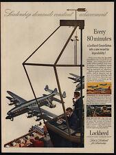 1951 LOCKHEED Constellation Airplane - Airport Air Traffic Control - VINTAGE AD