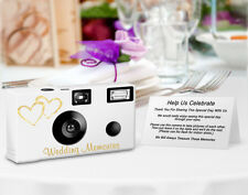10 Gold Hearts Disposable Camera, Single Use Cameras, Wedding Cameras