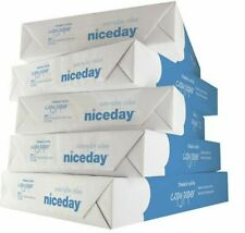 More details for niceday a4 80gsm white paper printer inkjet laser office 5 reams re-sealed