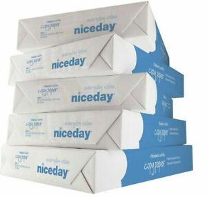 Niceday A4 80gsm White Paper Printer Inkjet Laser Office 5 Reams Re-Sealed