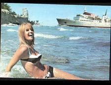 GOTLAND (SUEDE) PIN-UP en BATEAU de CROISIERE en 1968