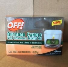Off! Outdoor Candle With Citronella Scented Oil