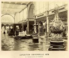 Paris, Exposition Universelle de 1878, Grande Galerie Vintage albumen print.