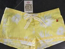 NWT Juicy Couture New & Gen. Yellow Cotton Shorts Size Small UK 8/10 With Logo