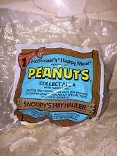 MCDONALDS PEANUTS SNOOPYS HAY HAULER HAPPY MEAL TOY 1989