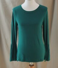 Worthington, Small, Bold Emerald Sweater, Flared Cuffs, New with Tags
