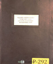 Pullmax P2 and P3, Plate Worker, Instructions Parts and Projects Manual 1957