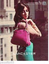 PUBLICITE ADVERTISING 065  2013  LANCASTER  maroquinerie sacs