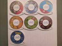 7 PSP Game Lot Star wars BF2, Sonic, Ape Escape, WallE, Lego Indiana Jones and