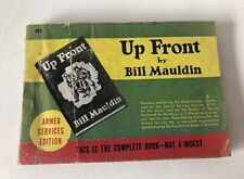 Vintage 1945 WWII Armed Services Edition Up Front Bill Mauldin Wartime Paperback
