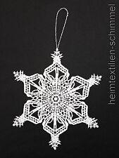 PLAUENER SPITZE ® Fensterbild WEIHNACHTEN Dekoration STERN Winter Schneekristall