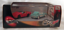 100% Hot Wheels Corvette 50 Vehicle Set 1957 and 1996 Corvette Real Rider Tires