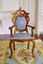 Dollhouse Miniature Furniture Well Made Brillant Armchair Elbowchair 1/12 Scale