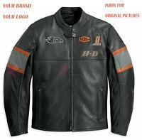 Revoko Davidson Motorbike Racing Cowhide Leather Jacket Riders Jacket