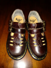 DR. MARTENS Girl's Brown Double Buckle Mary Jane Shoe Size 13