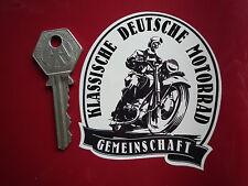 German CLASSIC MOTORCYCLE Community STICKER Deutsche Classic Bike Motorrad