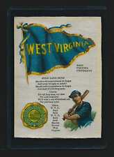 S23 WEST VIRGINIA BASEBALL Small Murad Tobacco Cigarette Silk RARE