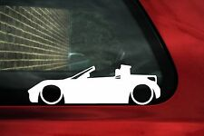 2x bassa, abbassata, SMART ROADSTER AUTO SILHOUETTE Outline Adesivi / Decalcomanie