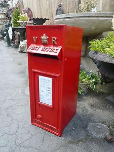 Royal mail Post Box Victorian design VR Rear 2 Door Red originally by T W ALLEN