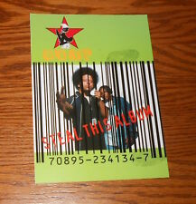 Coup Steal This Album Postcard Promo 7x5