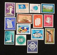 Complete set first stamps of UN Geneva 1-14 MNH at a fraction of face value