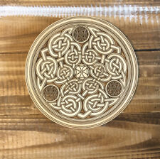 Celtic Book of Durrow Hanging Wall Plaque Ireland Medieval Art Resin