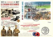 "Maxi-FDC FRANCE WWI 1917-2017 The Chemin des Dames Ridge / Nivelle Offensive"""