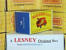 Matchbox Lesney 13c Thames Trader Wreck Truck Type D EMPTY ORIGINAL BOX ONLY