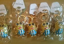 Wholesale joblot of GOLDEN 5 Menion keyrings chain crystal bling bag charm