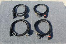 4 Anschlußkabel für Telefunken M15 M10 M5 M15A  Groß tuchel auf XLR Neutrik 2,5m