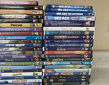 Lot of 42 children's Disney Classics Dvds (3 Blu-Ray) and other Family Movies