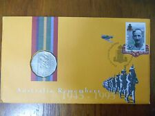 1995 50 Cent WEARY DUNLOP Coin & Stamp PNC/FDC Unc in Dust Cover