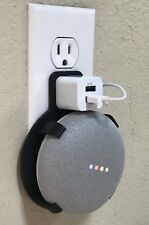 Dual USB Port PLUG-IN Wall Mount for Google Home Mini (Black)