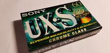 SONY UX-S 60 UXS CHROME CrO2 - Blank Audio CHROME Tape Cassette UX-S NEUVE N&S