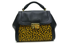 Vera Bradley Stella mini satchel women's Leather, cheetah (Black)