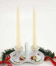 Menagerie Art Deco mit 2 dazugehörigen Kerzenständern Motiv Weihnachtsstern