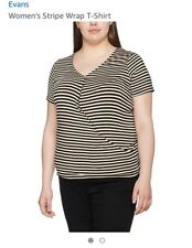 Evans Striped Wrap Top Size 20 Brand New