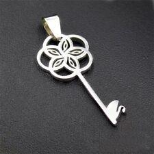 Fashion Swan  Key Silver 316L Stainless Steel Titanium Pendant Necklace