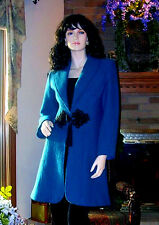 SOFT SURROUNDINGS LUNCH AT THE PLAZA BOILED WOOL COAT / JACKET SMALL TEAL $159