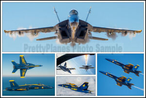 USN Blue Angels F/A-18 Super Hornets Pensacola 2020 8x12 Aircraft Photo